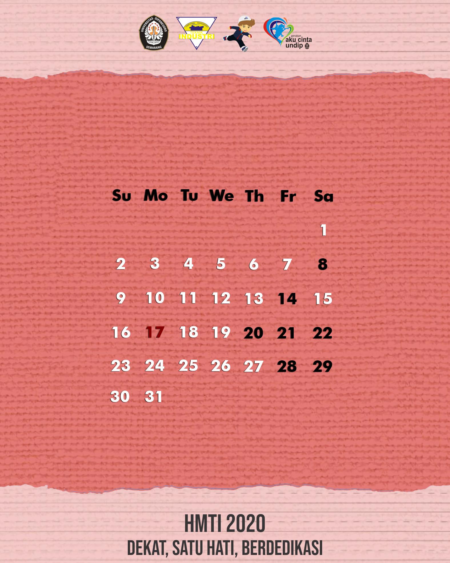 TI Calendar: August