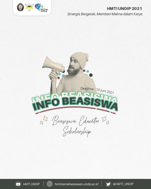 INFO BEASISWA 📚: EDUCATOR SCHOLARSHIP