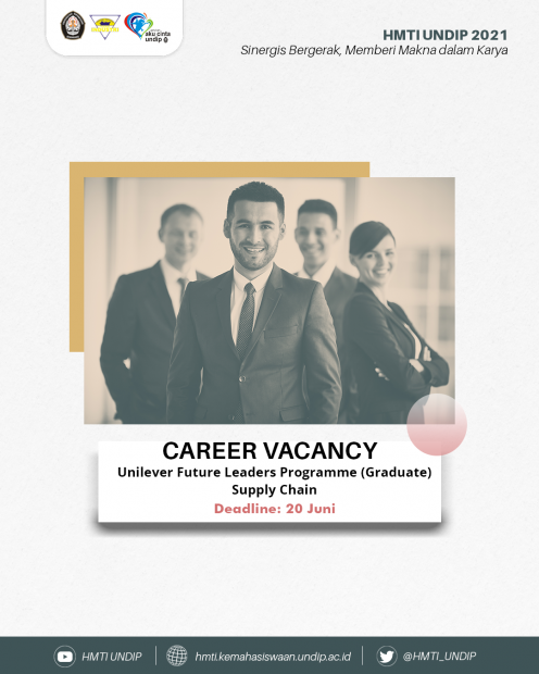 CAREER VACANCY📑: Unilever Future Leaders Programme