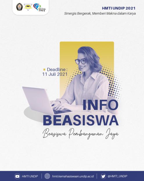 INFO BEASISWA 📚: Pembangunan Jaya